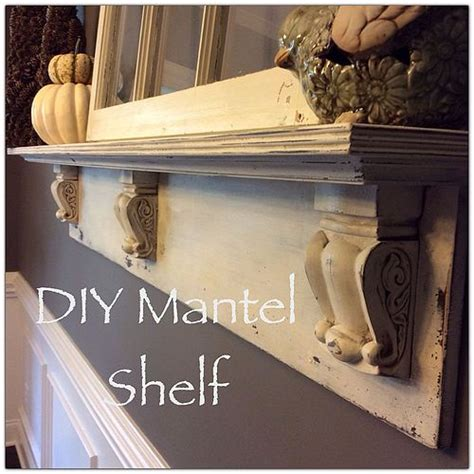hometalk diy mantel shelf
