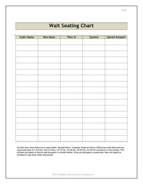 Reservation Cards For Tables Templates by Restaurant Forms Workplace Wizards Restaurant Consulting