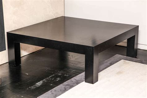 parsons square coffee table parsons style ebonized oak square coffee table for sale at