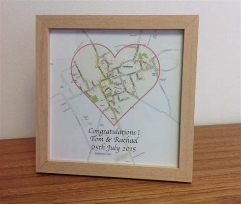Wedding Gift Ideas Personalised by Personalised Map Wedding Gift 163 19 50 Cosmographics Ltd