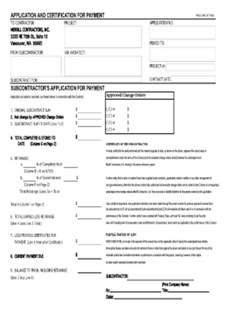 Payment Agreement Contract Pdf Forms And Templates Fillable Printable Sles For Pdf Word Subcontractor Application Template