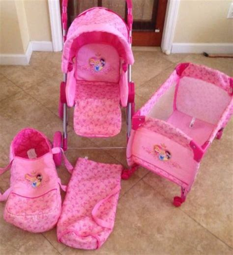 Play Musical By Royalbaby disney princess baby doll stroller carriage play yard