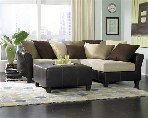 Living Room Black Leather Sofa Modern Decorative Decosee