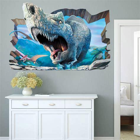 jurassic park bedroom aliexpress com buy 3d jurassic world park dinosaurs wall