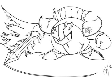 kirby coloring pages meta knight free printable kirby coloring pages for kids