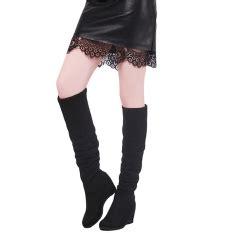 High Heels Boot Dn 284 Hitam jual berbagai boots wanita terbaru lazada co id