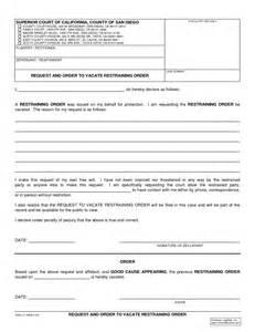 restraining order template restraining order forms printable images