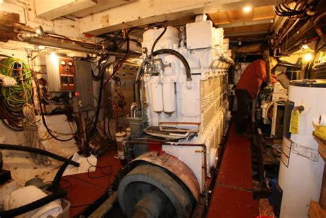 tugboat engine room tugboat iver the scariest part