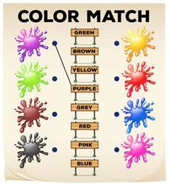 match the color color match interactive worksheet