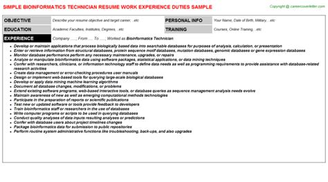 bioinformatics template bioinformatics resume sle template