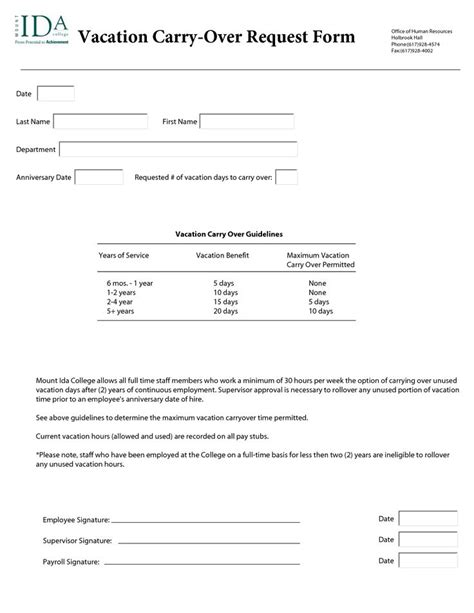 annual leave request form template annual leave