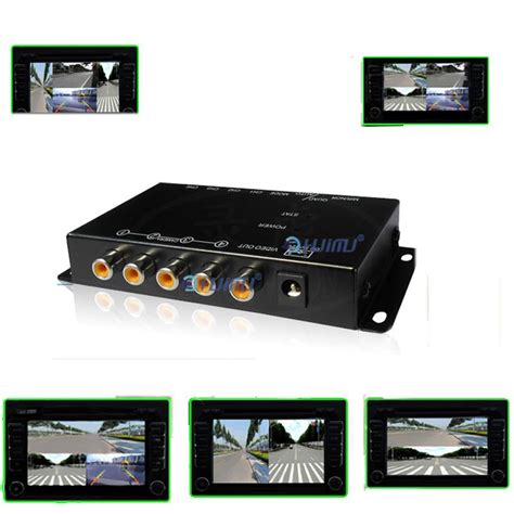 front car system combiner car 4 cameras switch box for side front