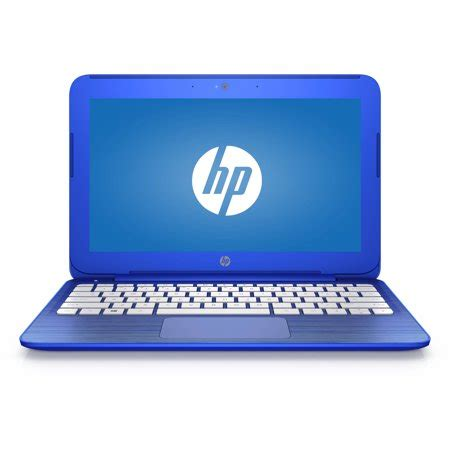 "refurbished hp cobalt blue 11"" stream laptop pc with intel"