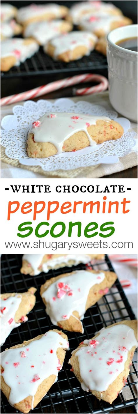 white chocolate peppermint white chocolate peppermint scones recipe sweet the o