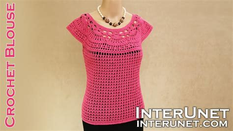 Blouse Camelia lace summer top pink camellia blouse crochet pattern