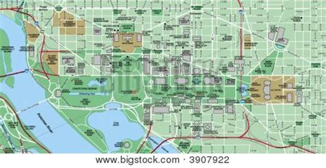 washington dc map points of interest picture or photo of downtown washington dc and mall map