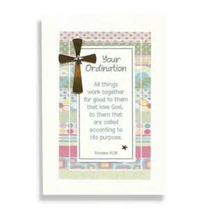 handmade ordination card gold cross three dot cards