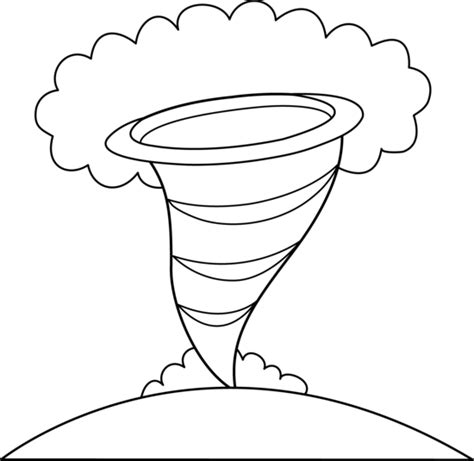 Colorable Tornado Design Free Clip Art Tornado Coloring Pages