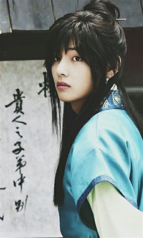 kim taehyung hanja tae v as hansung in hwarang bts pinterest beautiful