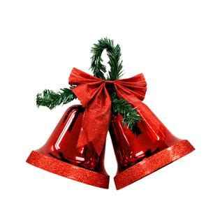 how to make christmas bells at home large glittery bells and glitter bow decoration sears