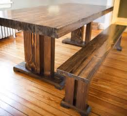 Solid Wood Kitchen Tables 8ft Butcher Block Style Table Solid Wood Farmhouse By Emmorworks