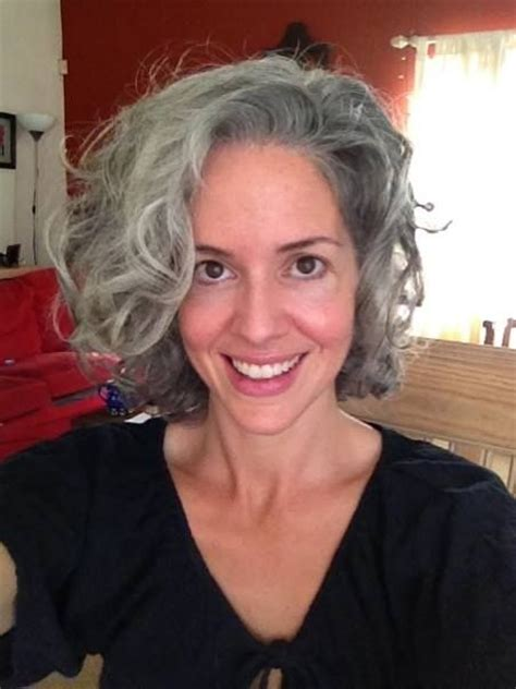 gray hair in your 30s beautiful haircut beautiful natural silver color
