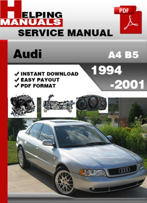 auto repair manual free download 1994 audi s4 user handbook audi a4 b5 1994 2001 service repair manual download download manu