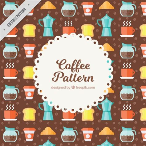 svg pattern object pattern of coffee objects vector free download