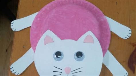 Cat Paper Craft - recycled cat craft idea for preschool crafts and