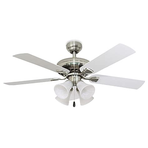 brushed nickel ceiling fans with lights federal hill 52 inch 4 light ceiling fan in brushed nickel