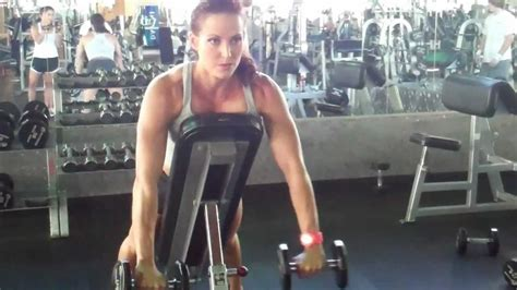 incline bench front raise erin stern demonstrates incline dumbbell front raise youtube
