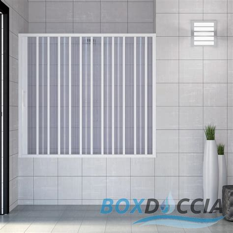 Plastic Folding Shower Doors Bath Shower Enclosure Plastic Pvc Folding Side Opening Doors Panel Ebay