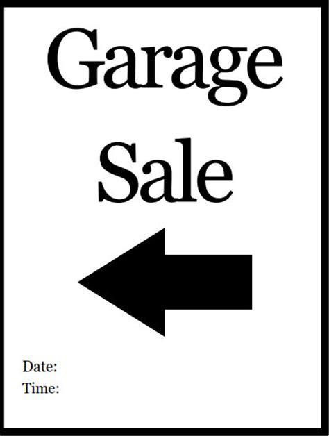printable yard sale signs printable pdf garage sale sign left arrow printable