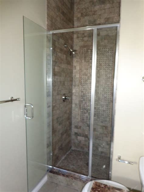 semi frameless shower doors www imgkid the image