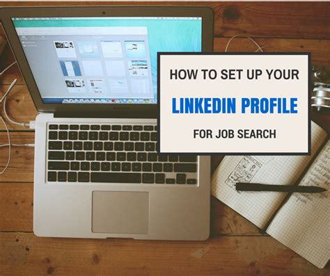 fb jobs how to set up your linkedin profile for job search