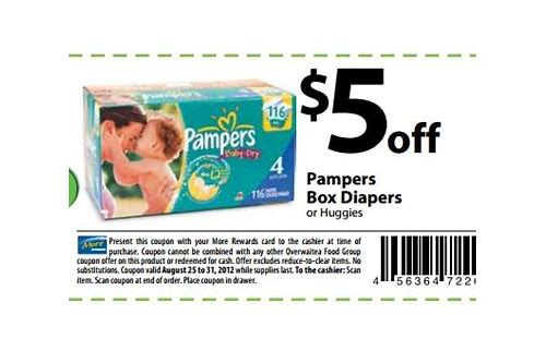 free printable coupons for pampers swaddlers