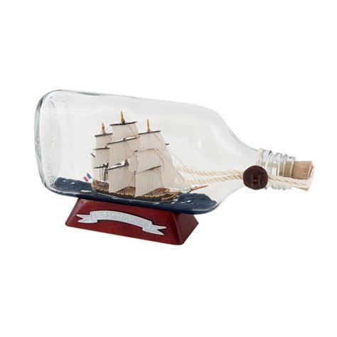 bateau hermione miniature bateau en bouteille 22 cm hermione maquettes de bateaux