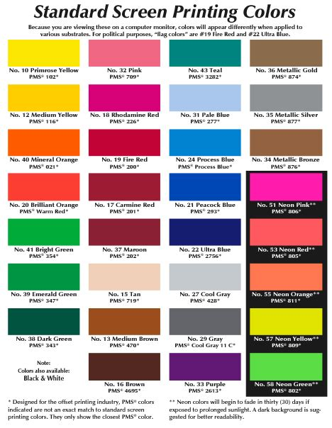 political colors sbm advertising chart showing common colors used in