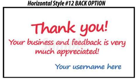 50 Ebay Seller Custom Personalized 5 Star Reminder Thank You Business Cards Ebay Ebay Payment Reminder Template