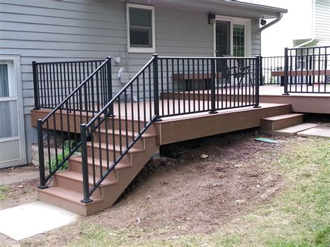 Aluminum Handrails For Decks deck with aluminum railings superior home improvement