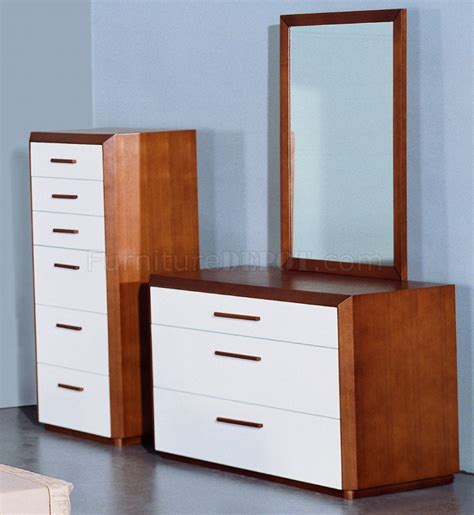 two tone bedroom furniture teak and white lacquer finish modern two tone bedroom set