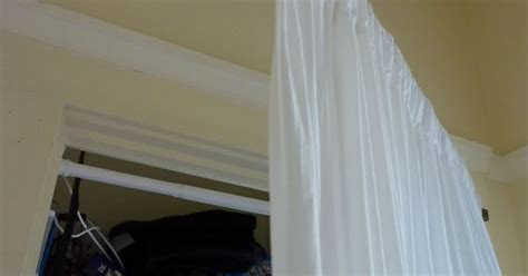 swing out closet rod swing arm curtain rod for closet space ideas pinterest