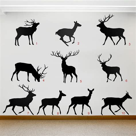 deer wall sticker stag and deer vinyl wall stickers by oakdene designs notonthehighstreet