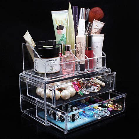 Desk Makeup Organizer Aliexpress Buy Desk Transparent Acrylic Cosmetic Desk Makeup Organizer Storage Drawer