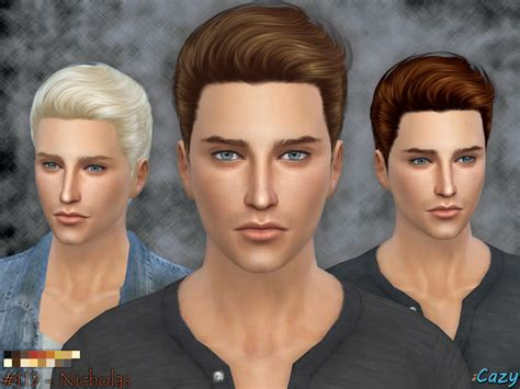 Sims 4 Male Hairstyles | cazy s nicholas hairstyle sims 4