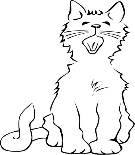 black and white coloring pages of cats black and white cat coloring page coloring pages