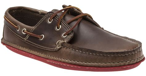 quoddy boat shoes lyst quoddy boat moccasin in brown for men