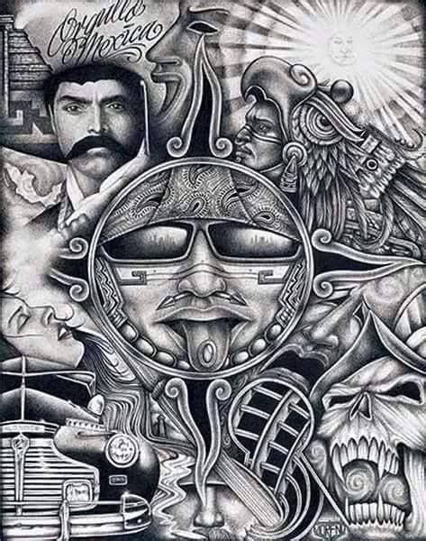 brown pride tattoo designs zapata collage this is for the raza chicano