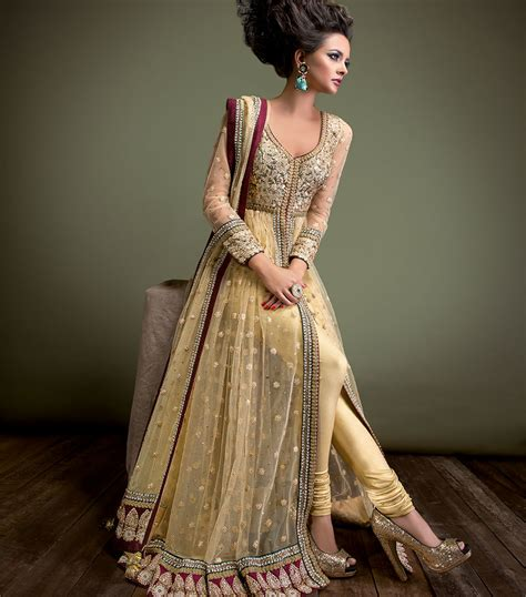 7r Roc Maron Bordir gold maroon and bottle green anarkali sonas haute couture
