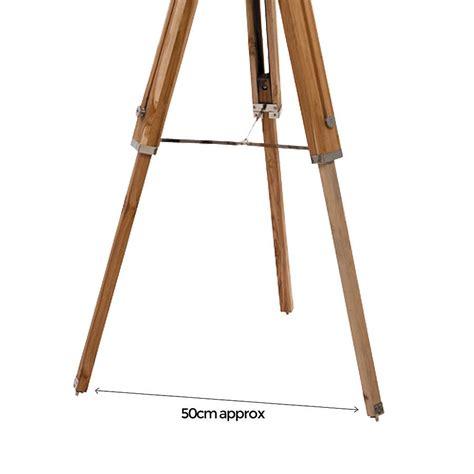 Wooden Tripod Floor L Wood Tripod Floor L Base By Quirk Notonthehighstreet